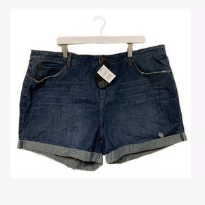 NEW ASOS Curve Cuffed Jean Shorts 18